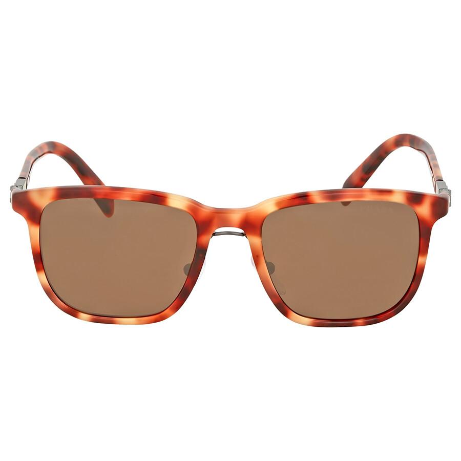 2752b20a0e8b Prada Red Havana Square Sunglasses - Prada - Sunglasses - Jomashop