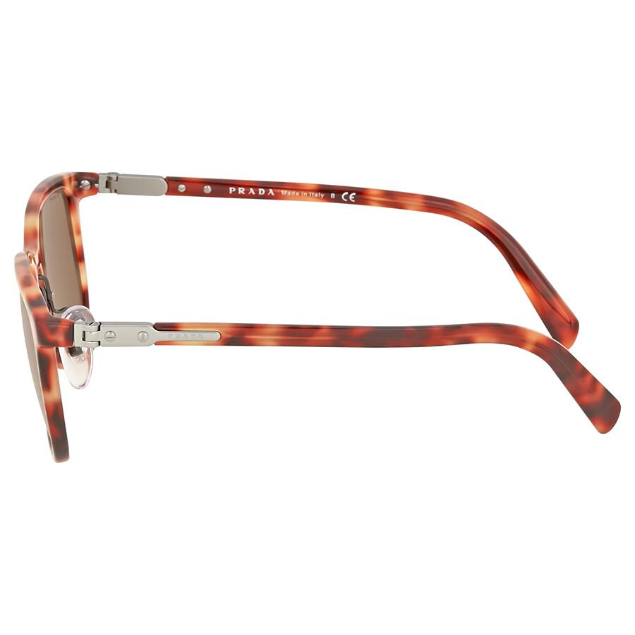ba3ec5b950e5 Prada Red Havana Square Sunglasses - Prada - Sunglasses - Jomashop