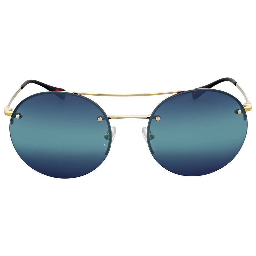 3c22a41866c Prada Round Blue Gradient Sunglasses - Prada - Sunglasses - Jomashop