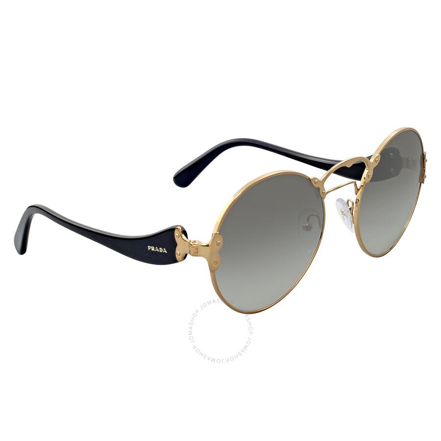 9948f1f3ac Prada Round Rimless Sunglasses