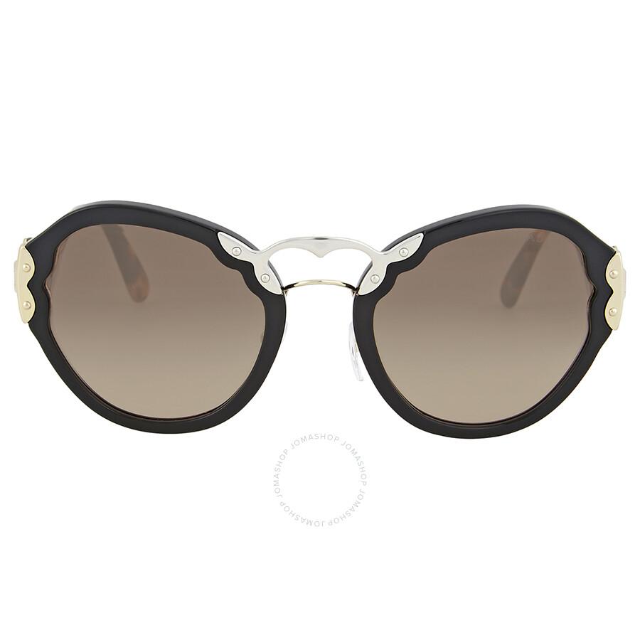 45f94fdb3bedd Prada Round Grey Gradient Sunglasses - Prada - Sunglasses - Jomashop