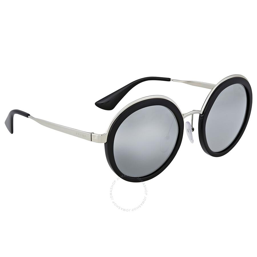 18984d636a Prada Round Grey Mirror Silver Gradient Sunglasses - Prada ...