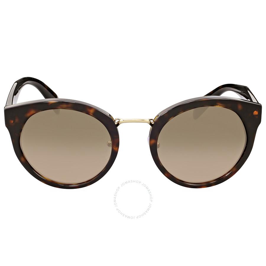 055fc5a9f6 Prada Round Tortoise Brown Sunglasses - Prada - Sunglasses - Jomashop