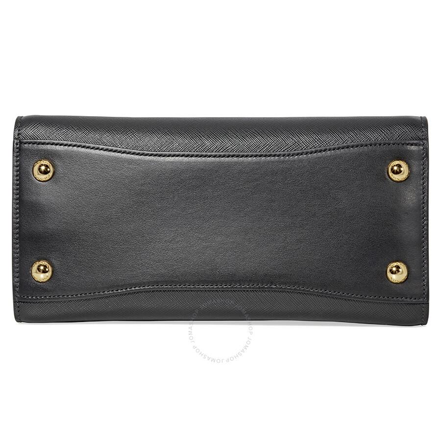 930a3c1f7 Prada Saffiano Calf Leather Crossbody Bag- Black Item No. 1BA050_2EVU_F0967