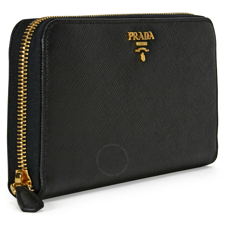 f4563ea2d5f3 Prada Saffiano Leather Continental Wallet - Black - Prada - Handbags ...