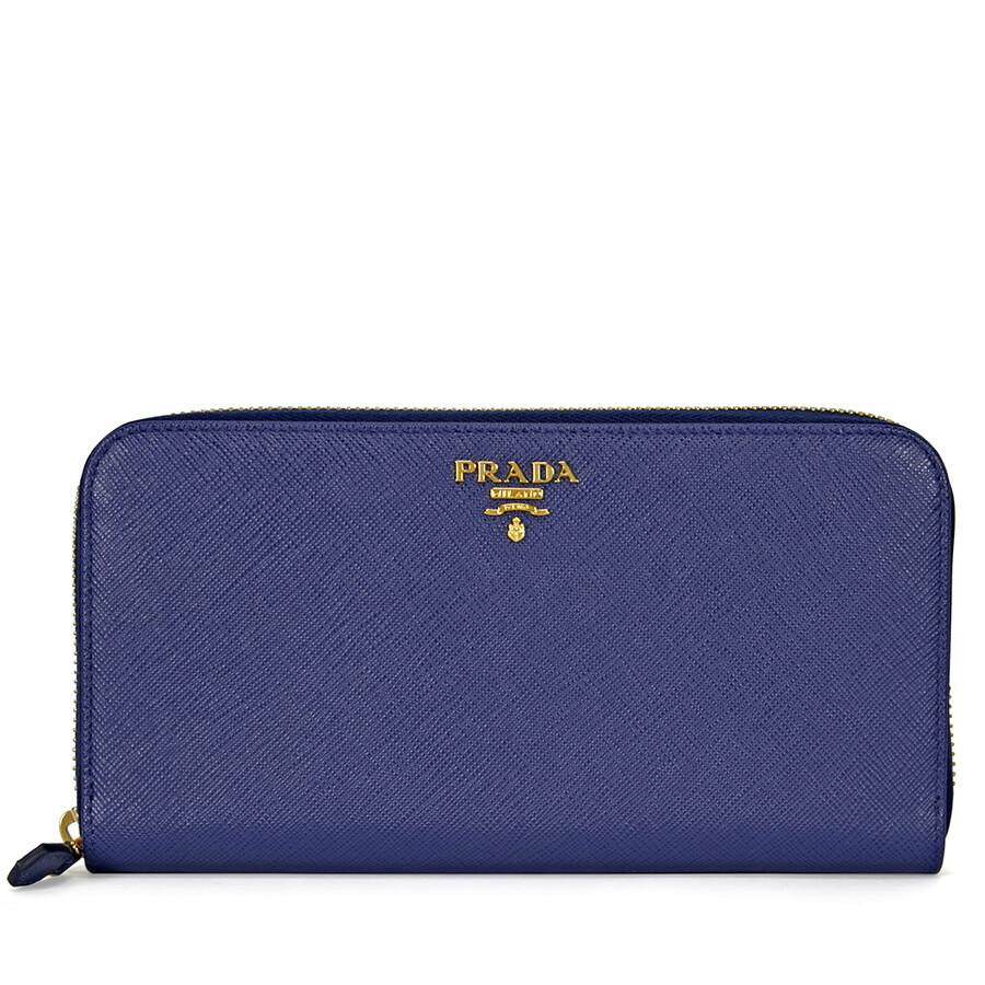 f446d29c42ea Prada Saffiano Leather Continental Wallet - Bluette Item No.  1ML506-QWA-F0016