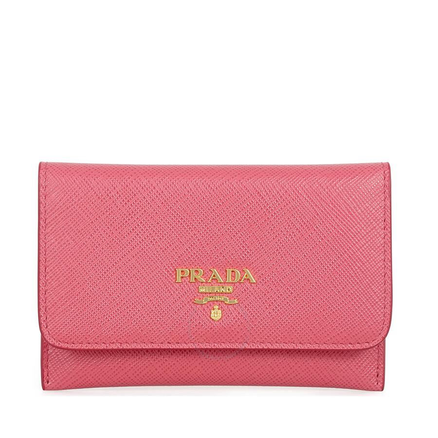 9a393cca0fb7 Prada Saffiano Leather Credit Card Holder - Peonia Item No. 1MC362-QWA-F0505