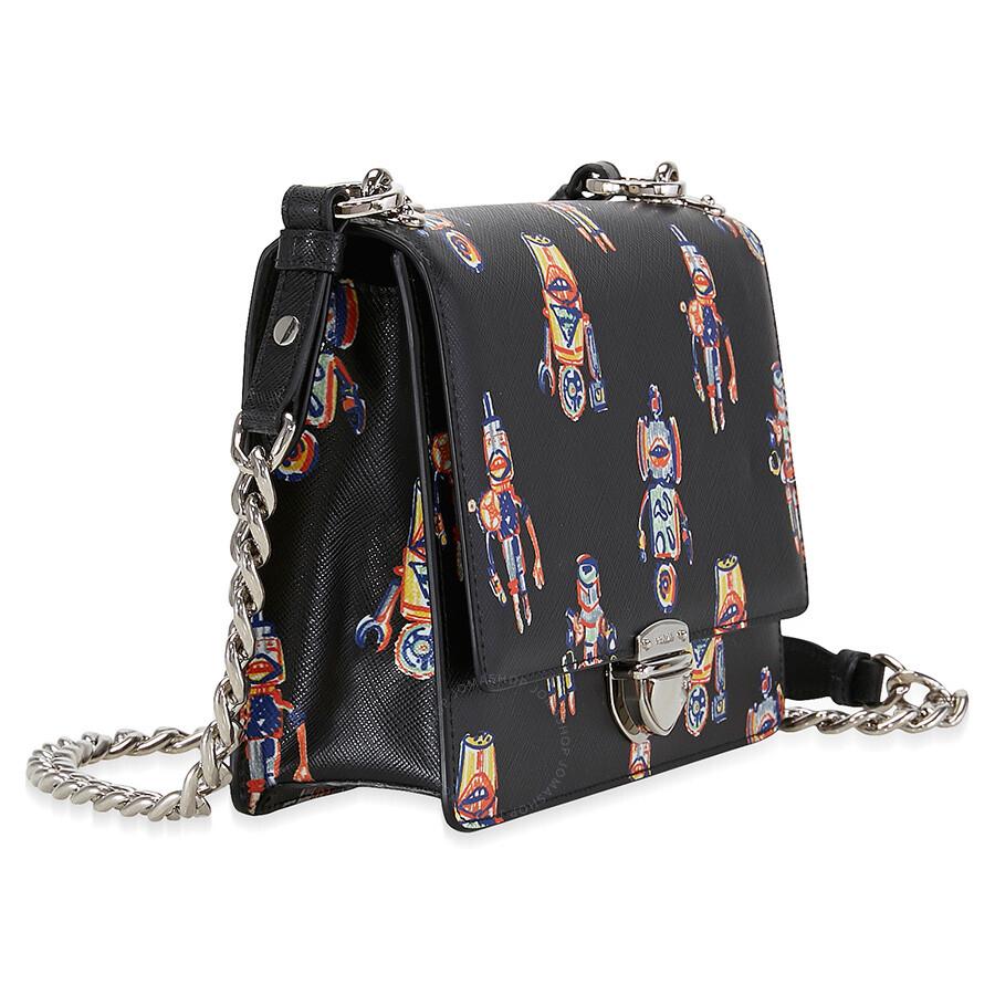 60d8e419b7147b Prada Saffiano Leather Crossbody - Robot Print - Prada - Handbags ...