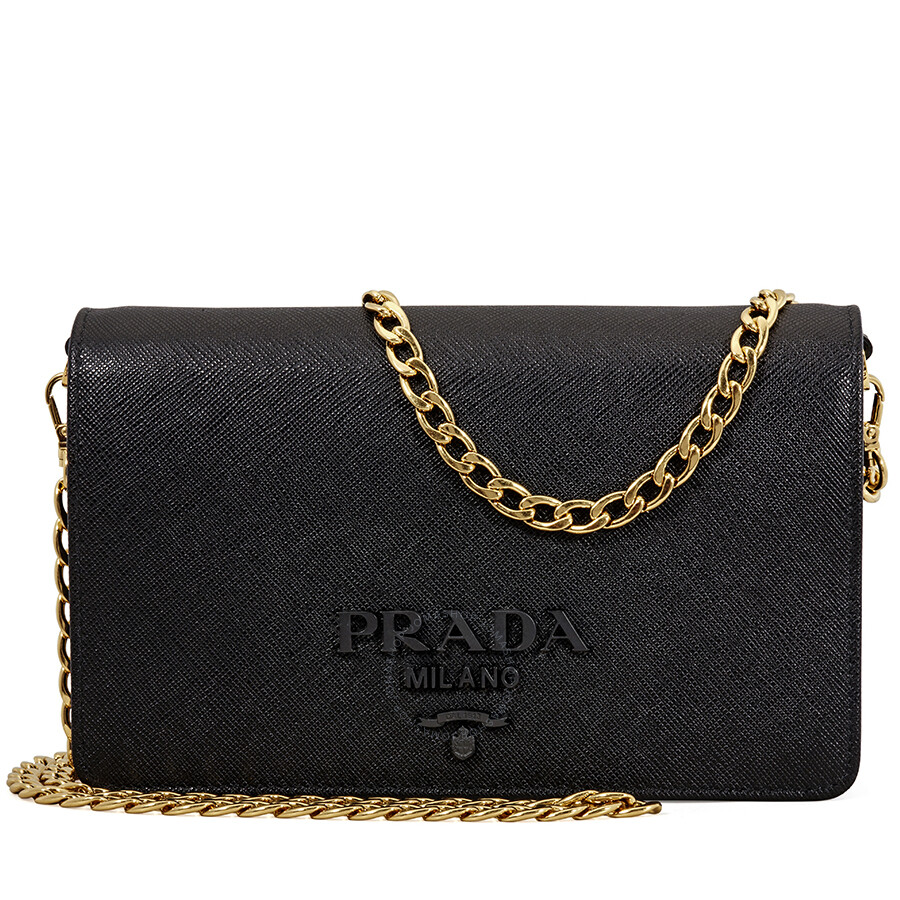 74fbbd844462 Prada Saffiano Leather Crossbody Bag- Black Item No. 1BP012 NZV F0002 V