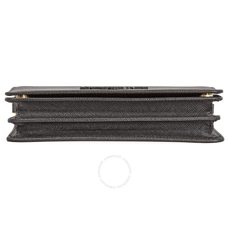 da9ea1b83261 Prada Saffiano Leather Crossbody Bag- Black - Prada - Handbags ...