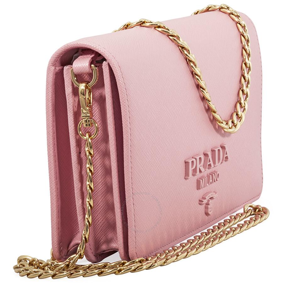 6dafa5b2734c Prada Saffiano Leather Crossbody Bag- Petal Pink - Prada - Handbags ...