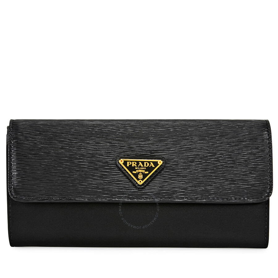 c77e7ad5dd04 Prada Saffiano Leather Envelope Wallet - Black - Prada - Handbags ...