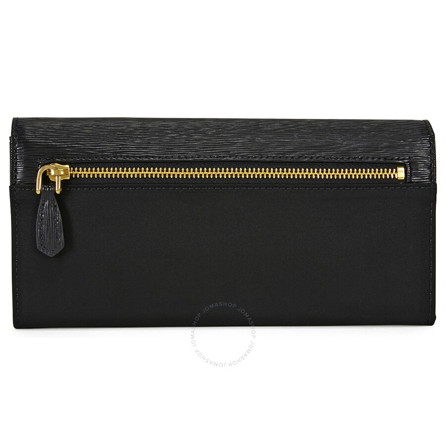 e7a934b613dd Prada Saffiano Leather Envelope Wallet - Black Item No. 1MH037-2EZ7-F0002