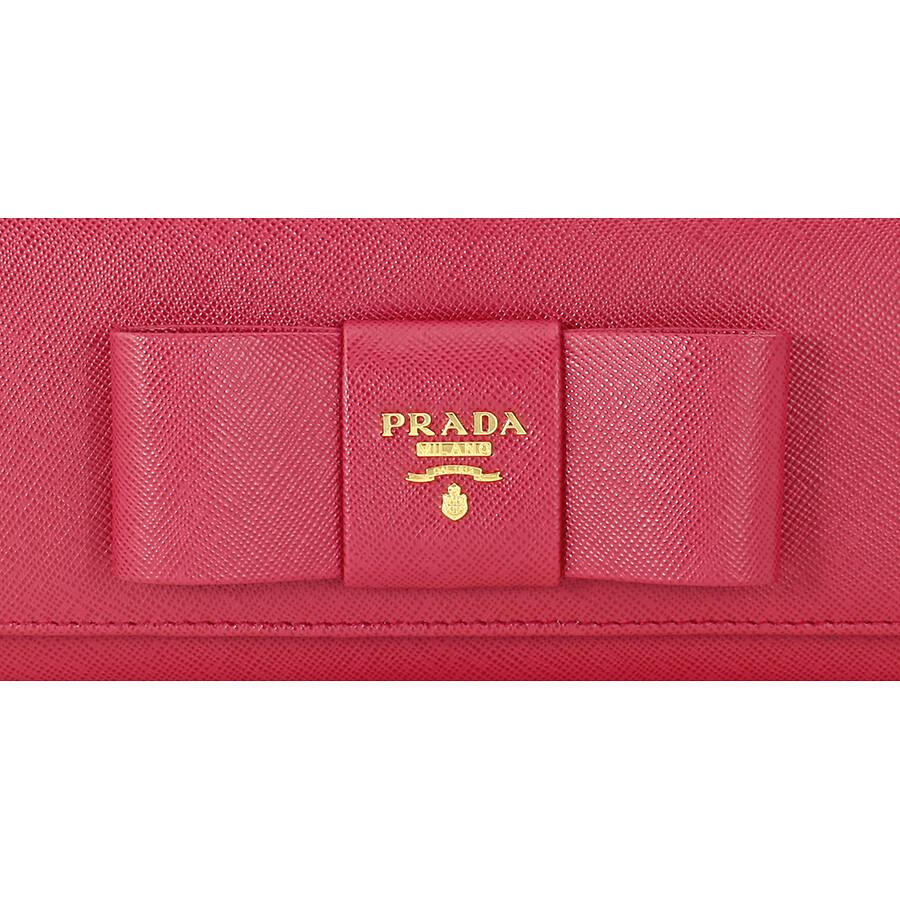 340087194e0eb8 Prada Saffiano Leather Fiocco Continental Wallet - Ibisco - Fiocco ...