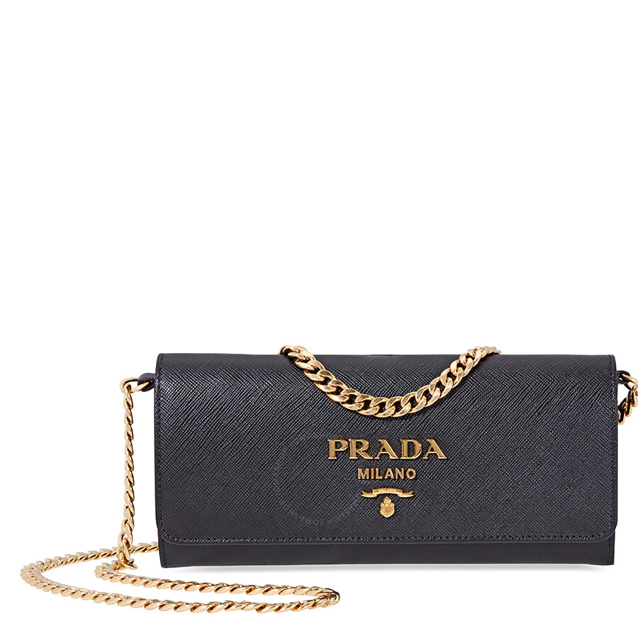 b927d4187584 Prada Saffiano Leather Shoulder Bag - Black Item No. 1BP290COWNZV D F0002