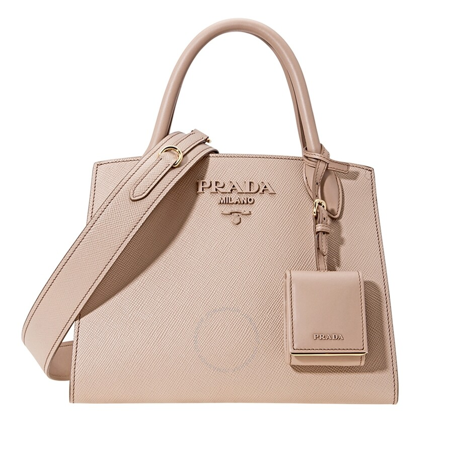 03b51f98a486cc ... Item No 1ba156 2erx F0236 V Ooo. Prada Saffiano Leather Shoulder Bag  Powder Pink Handbags