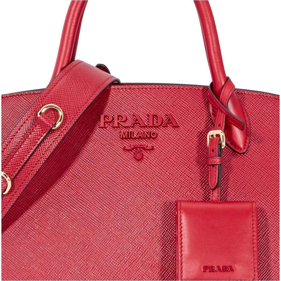 6e4d0f5bf751 Prada Saffiano Leather Shoulder Bag- Red - Prada - Handbags - Jomashop