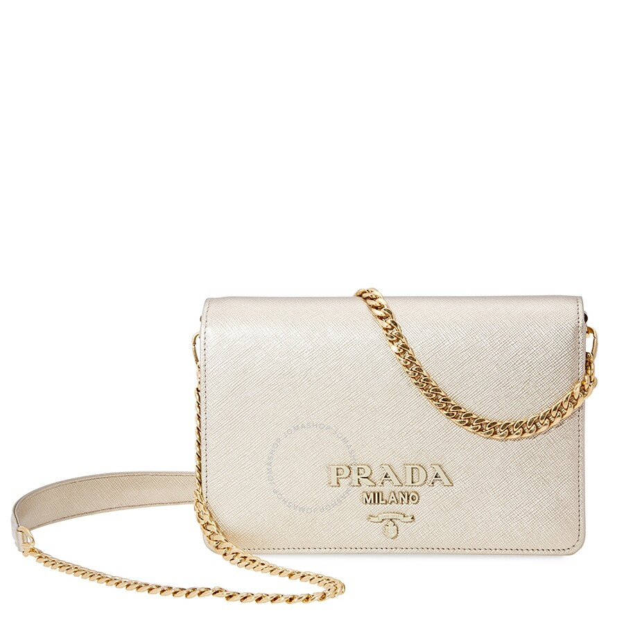 51a0f9f3ac8b Prada Saffiano Leather Shoulder Bag - Prada - Handbags - Jomashop