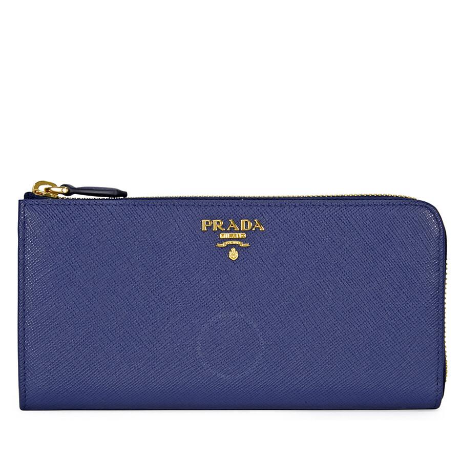 2f49cfd7cb4c Prada Saffiano Leather Wallet - Bluette Item No. 1ML183-QWA-F0016