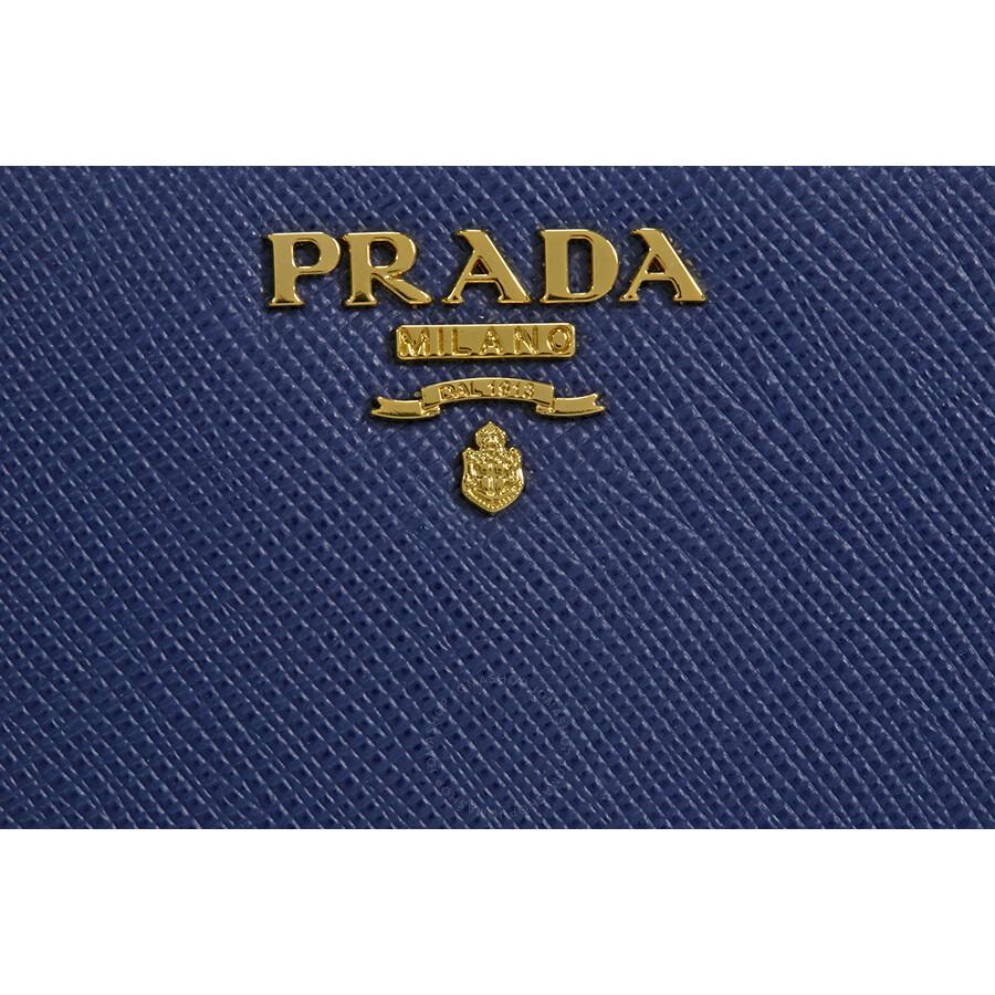 f4ee43d691ec Prada Saffiano Leather Wallet - Bluette - Saffiano - Prada ...