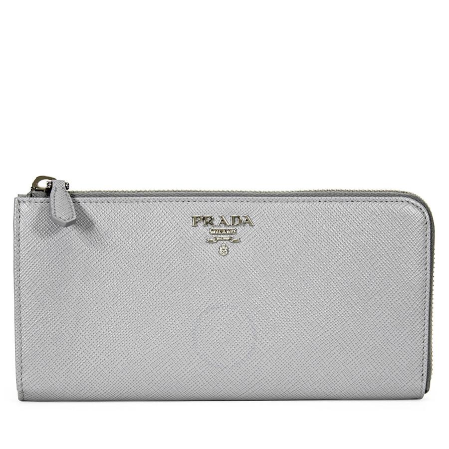 1e22b84d60f2 Prada Saffiano Leather Wallet - Granito Acquamarina Item No. 1ML1832E6VF0NR5