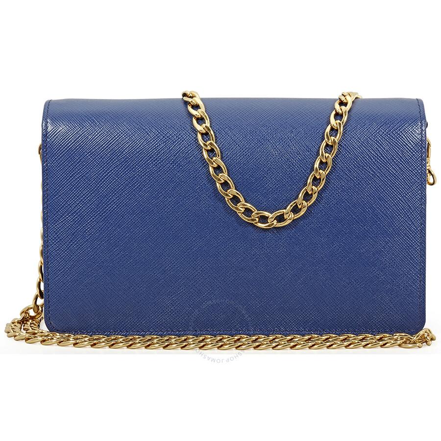 c58f74a819d Prada Saffiano Leather Shoulder Bag- Bluette Item No. 1BP012 NZV F0016-V CWO
