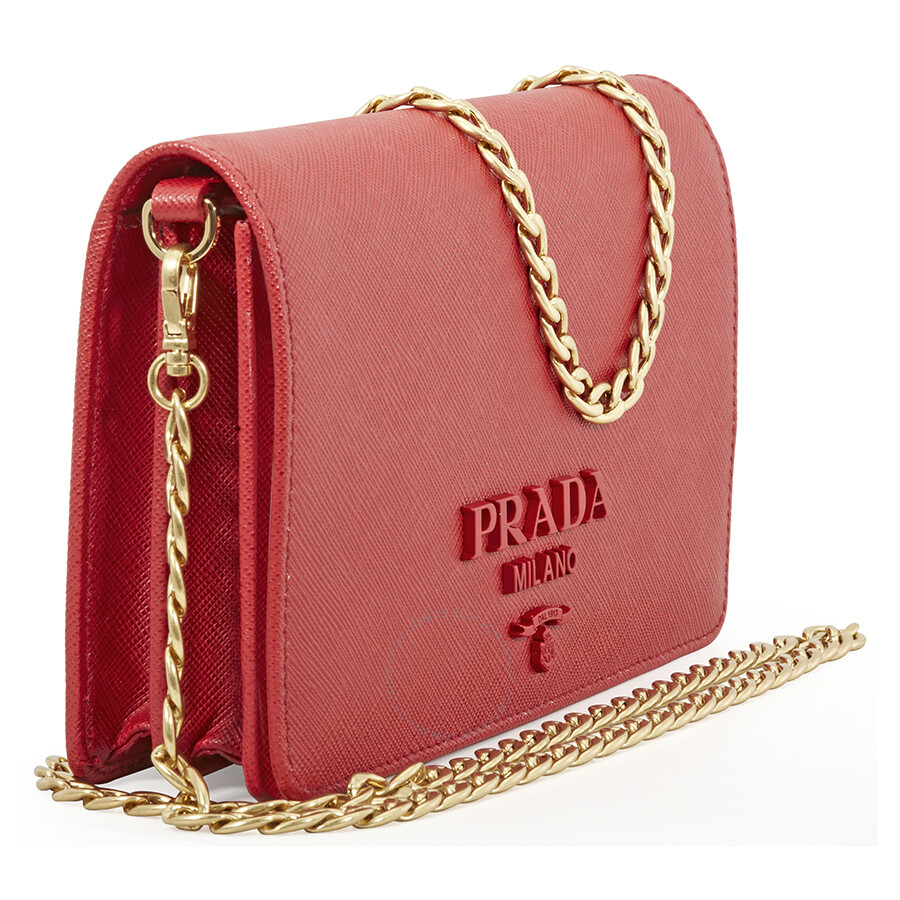d307d3bb864d cheap at luisaviaroma prada small leather wallet 4e3b6 4e0b2; sweden prada  saffiano leather wallet bag red 17a21 3a225