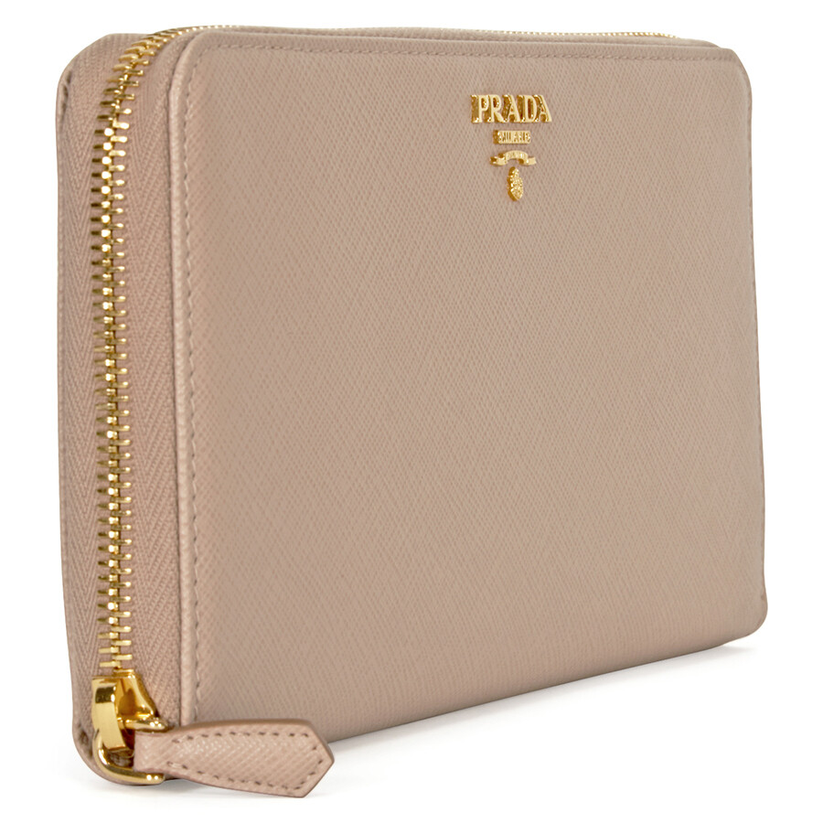 c8e052e95e35 Prada Saffiano Leather Zip-Around Wallet - Cammeo - Prada - Handbags ...