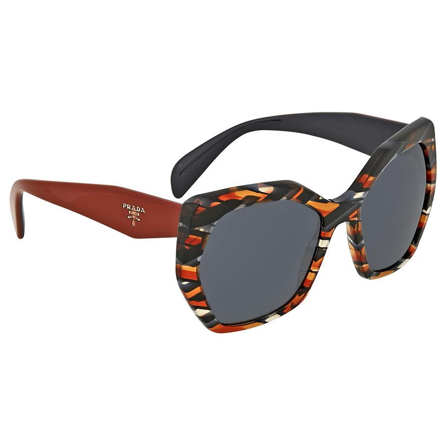 c8522a76b55 Prada Sheaves Grey Orange Butterfly Sunglasses Prada Sheaves Grey Orange  Butterfly Sunglasses ...