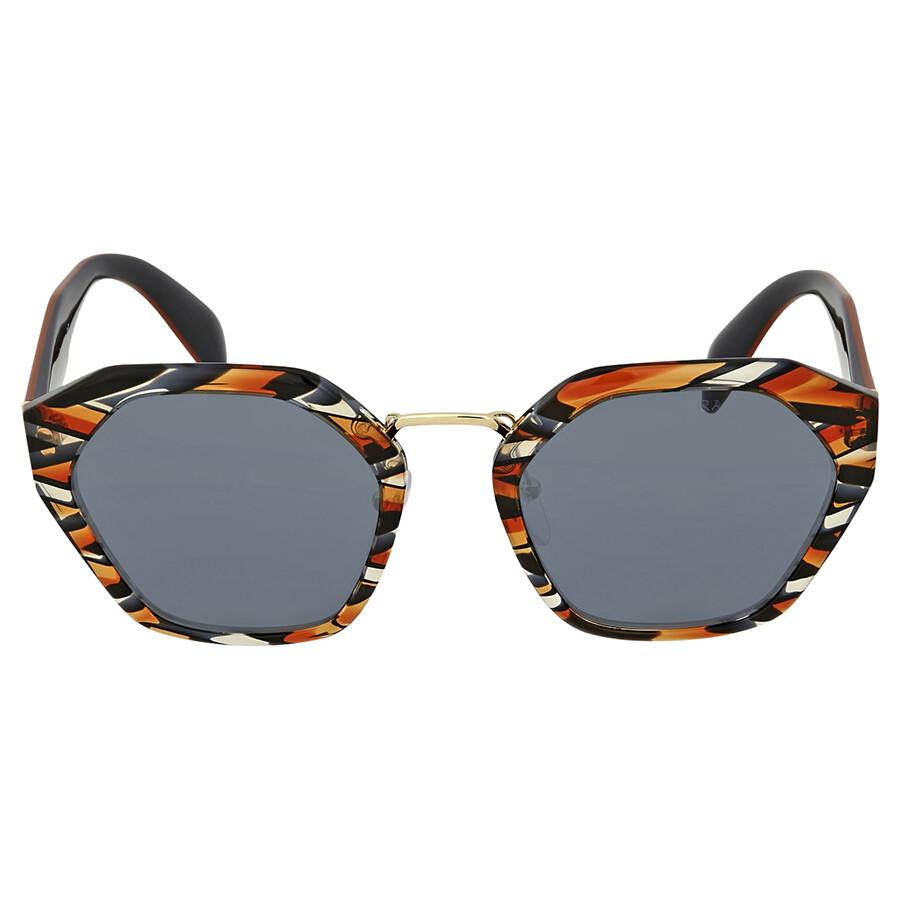 eef3d83035f Prada Sheaves Grey Orange Sunglasses - Prada - Sunglasses - Jomashop
