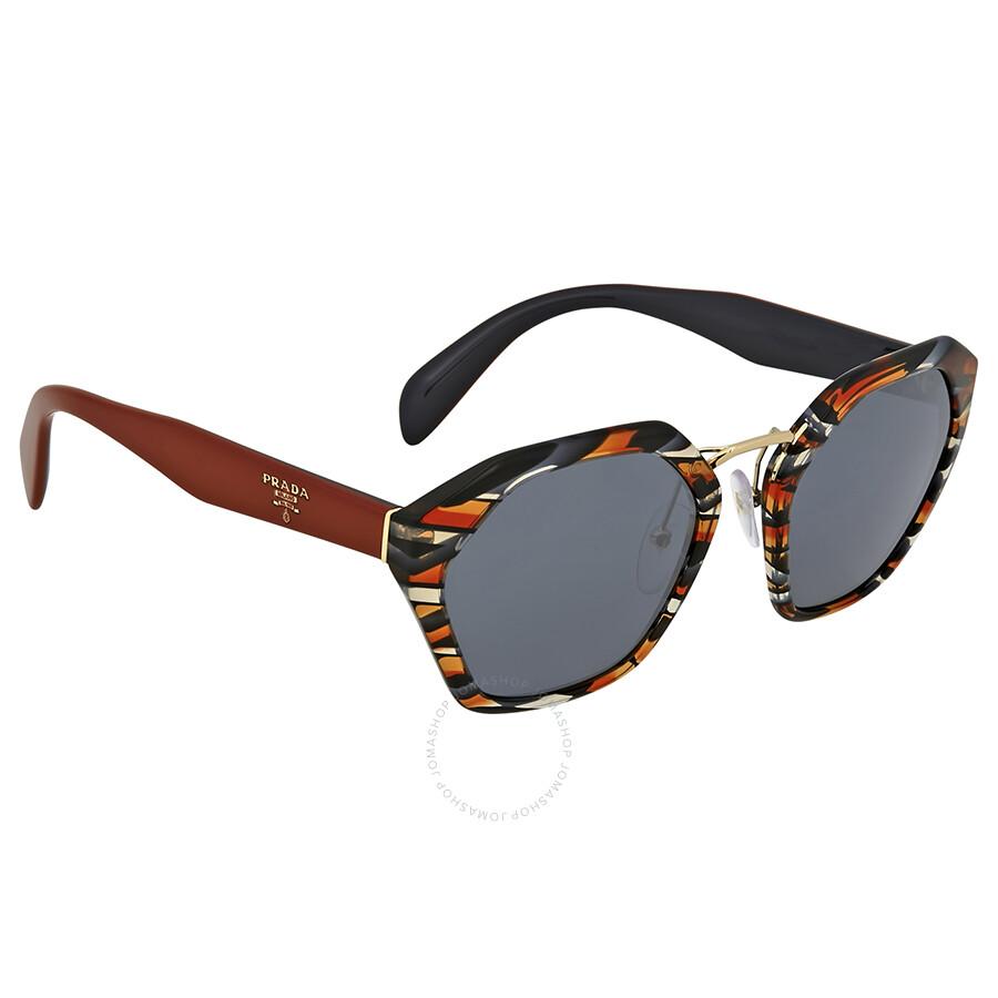 42198eff104 Prada Sheaves Grey Orange Sunglasses Prada Sheaves Grey Orange Sunglasses  ...