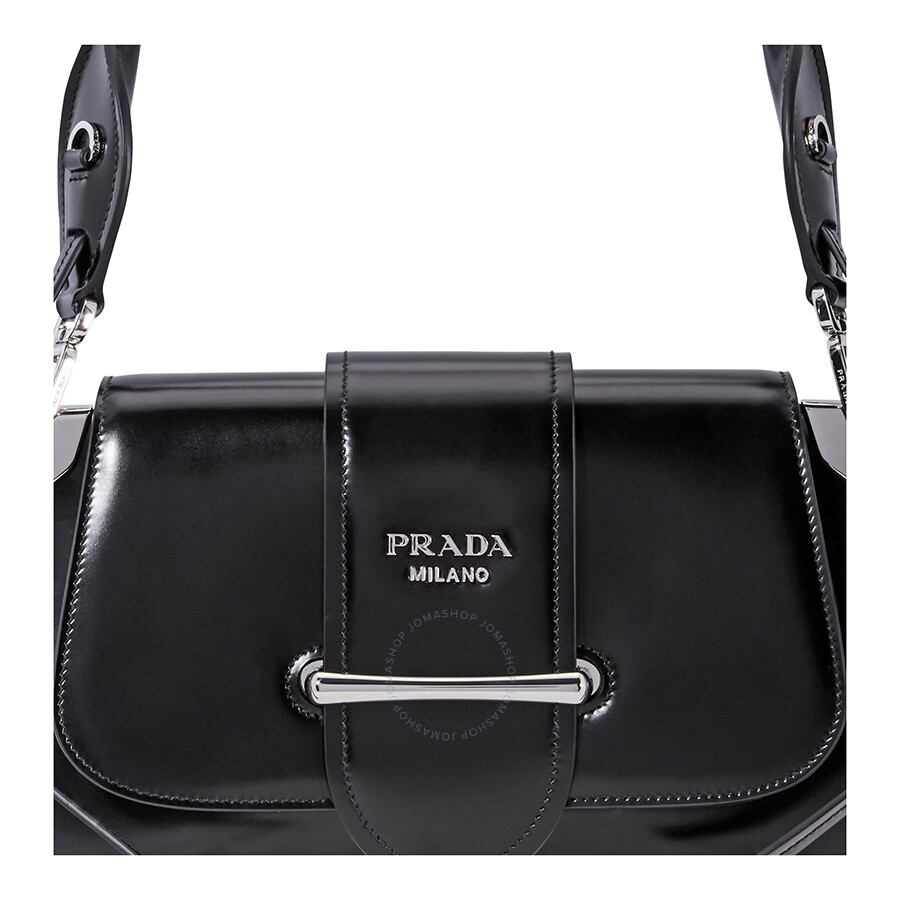 988e856958883b Prada Sidonie leather Shoulder Bag- Black - Prada - Handbags - Jomashop