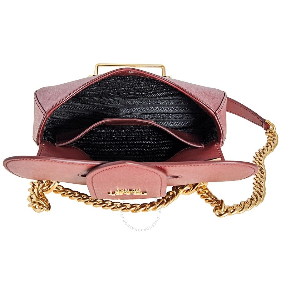Prada Sidonie Saffiano Leather Bag In