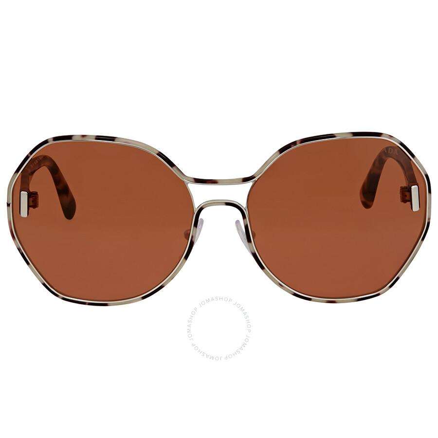 c02626f41f8 Prada Silver White Havana Square Sunglasses Item No. PR 53TS UAO6N0 62