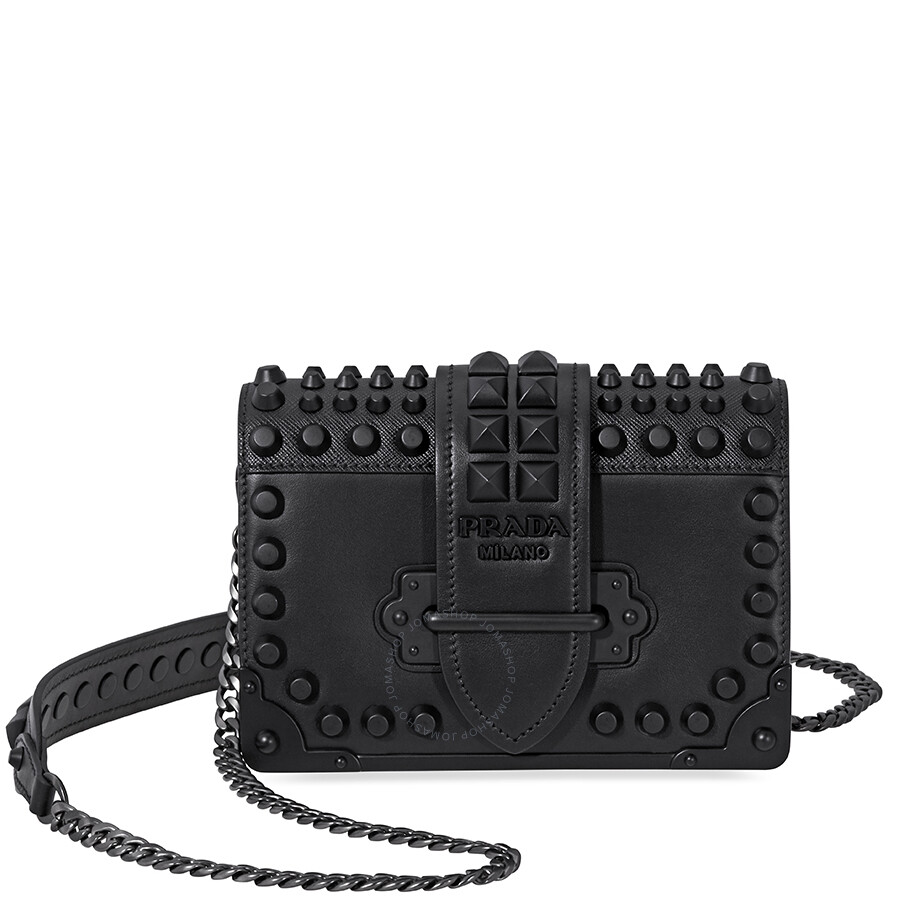 b41dd4dc9c45 Prada Small Leather Crossbody Bag- Black - Prada - Handbags - Jomashop
