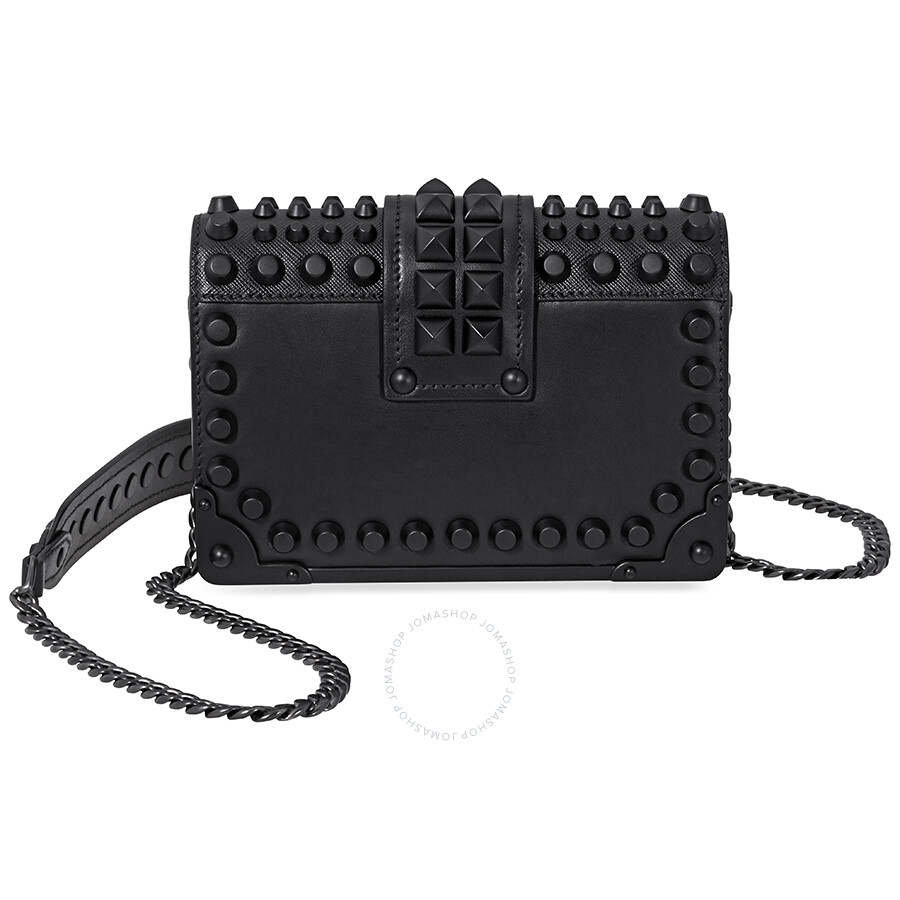 dcb5105efba8f0 Prada Small Leather Crossbody Bag- Black Item No. 1BH018_F0632_2BB0_V_CNH