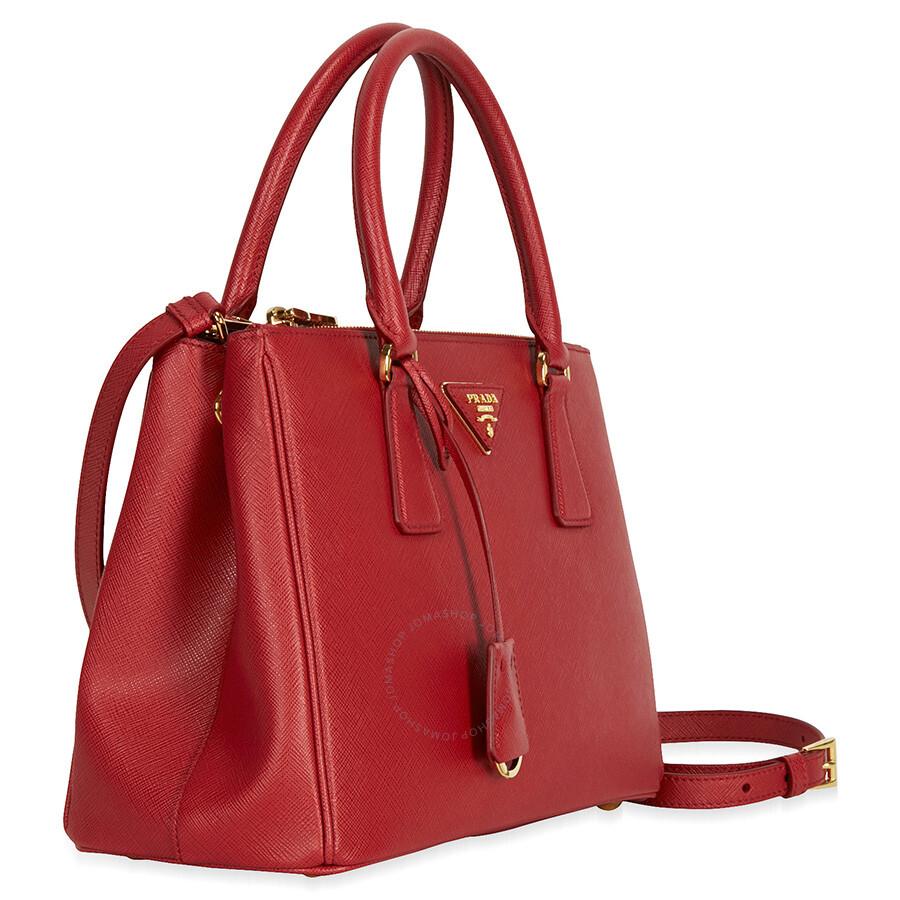 474f134549132 Prada Small Lux Double Zip Saffiano Leather Tote - Fuoco - Lux ...