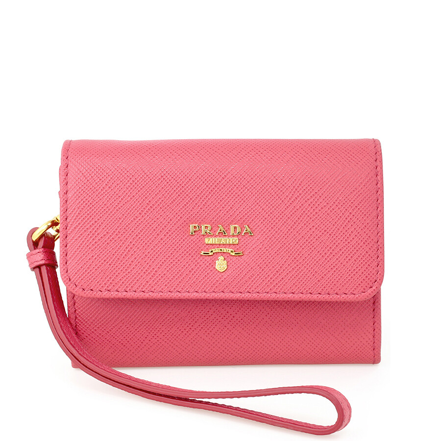 dda1dfcca2 Prada Small Saffiano Leather Wallet - Peonia