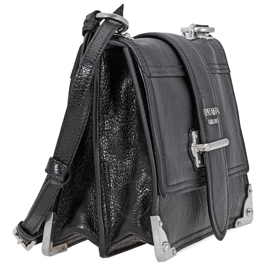 724ab093c1b8 Prada Soft Cahier Shoulder Bag- Black - Prada - Handbags - Jomashop