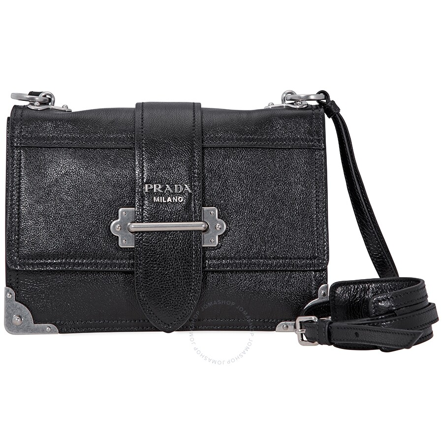 dc65a2cabf23b3 Prada Soft Cahier Shoulder Bag- Black - Prada - Handbags - Jomashop
