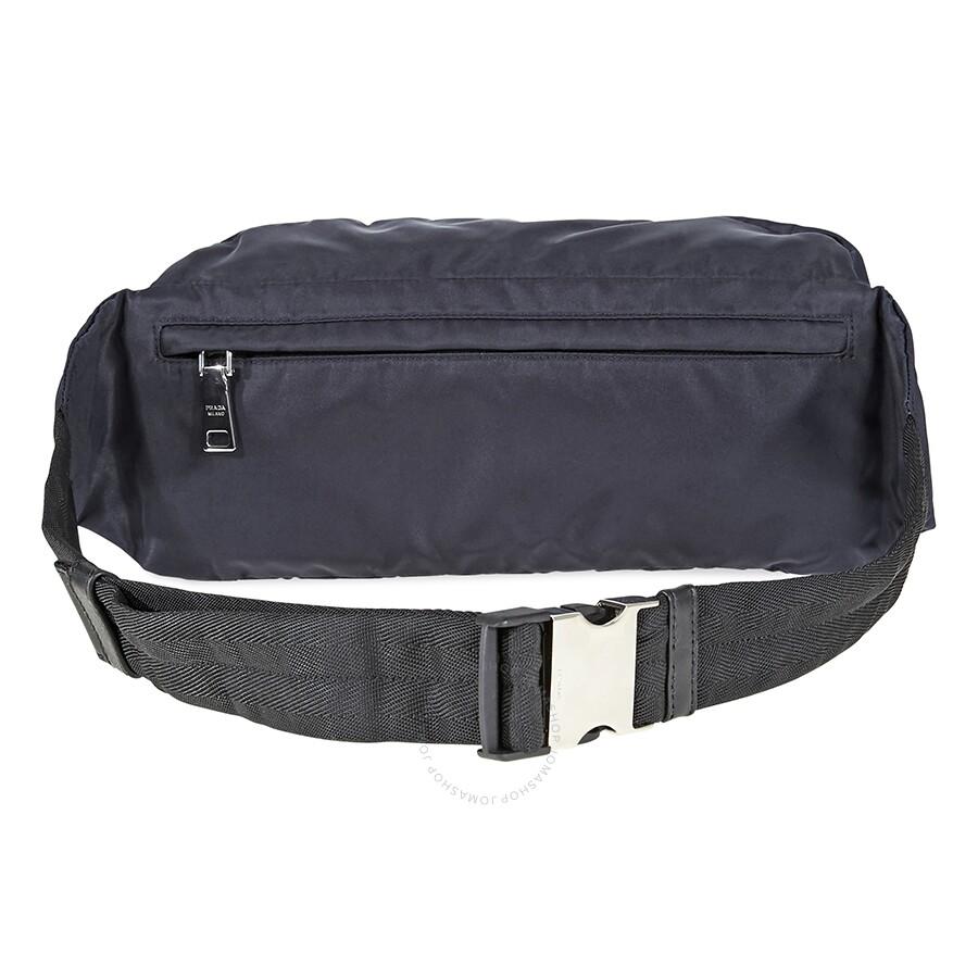 597aaaab2097 Prada Technical Fabric Belt Bag- Blue - Prada - Handbags - Jomashop