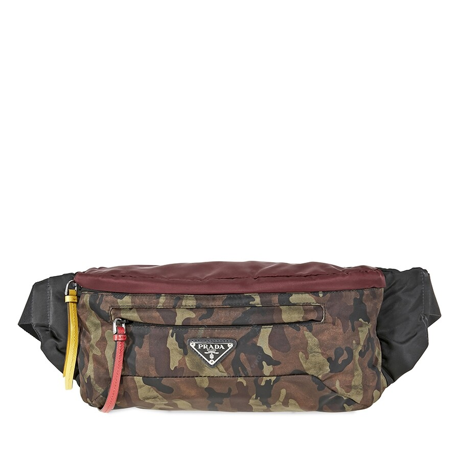 2fdb5107dbd38c Prada Technical Fabric Belt Bag- Multicolored Item No. 2VL008VO2BUMF0OTS