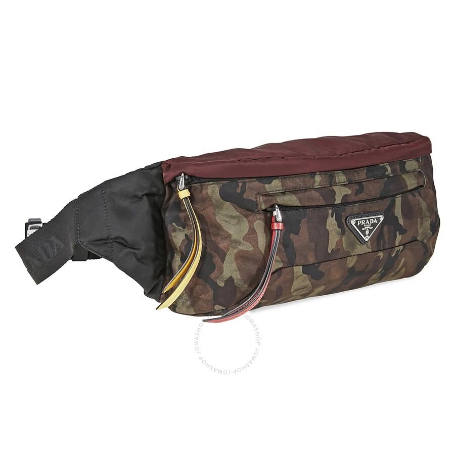 20a5fa720b9eff Prada Technical Fabric Belt Bag- Multicolored - Prada - Handbags ...