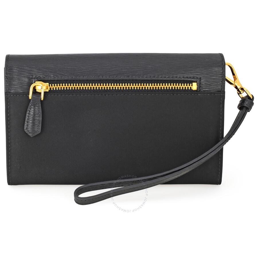 a9139932eeb Prada Tessuto Saffiano Leather and Nylon Wallet - Black - Tessuto ...