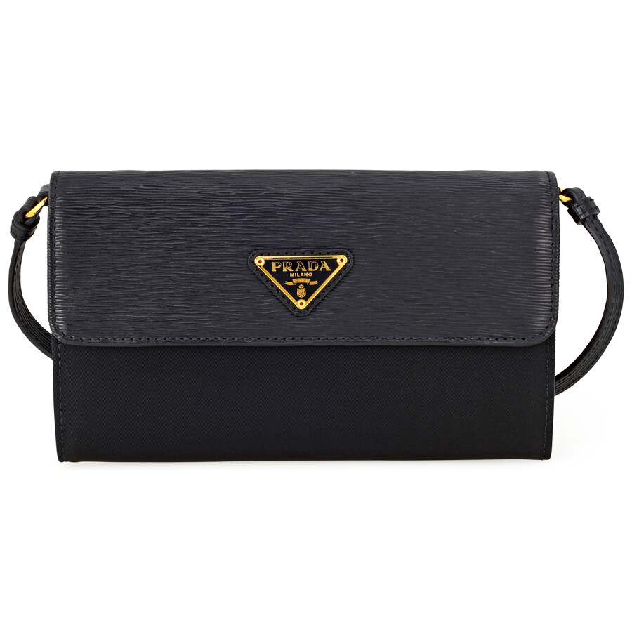 85793da595edf8 Prada Tessuto Saffiano Leather Mini Crossbody - Black Item No.  1MT437-2EZ7-F0002