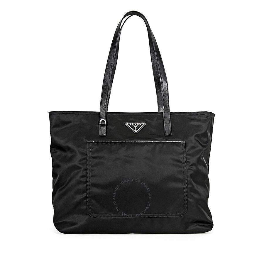 20a159acf47a ... inexpensive prada vela fabric tote black 2c436 f7bee ...