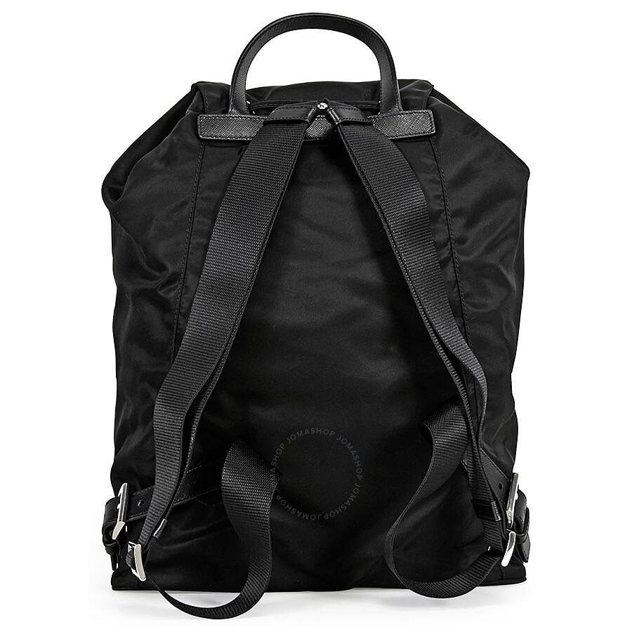 Prada Vela Nylon Backpack - Black - Vela - Prada - Handbags - Jomashop 177550d7bf