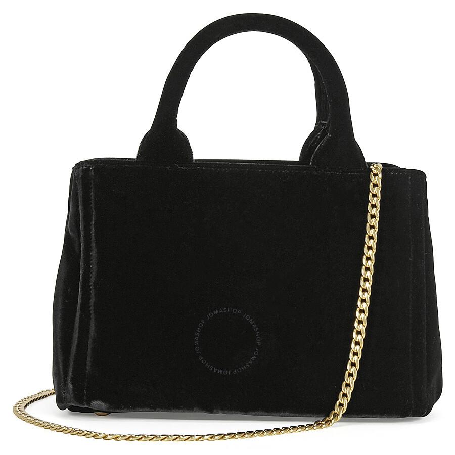 Prada Velvet Chain Convertible Shoulder Bag - Black - Prada ...