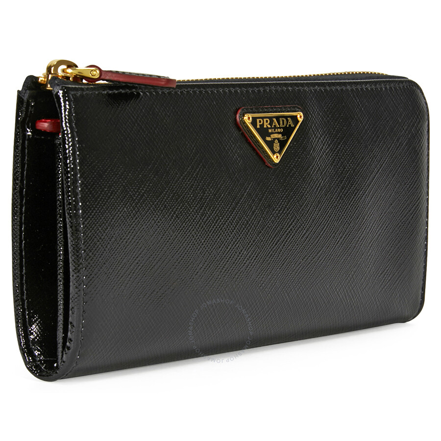 Leather Gmbh Contact Us Email Sales Mail: Prada Vernice Saffiano Leather Wallet