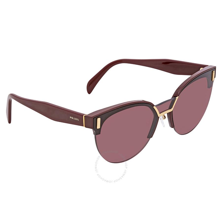 42b2937bc0d60 Prada Violet Cat Eye Sunglasses PR 04US TY7098 43 - Prada ...